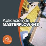 Aplicación de Masterflow 648