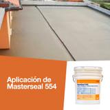 Aplicación de Masterseal 554