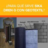 ¿Para qué sirve Sika Dren G con Geotextil?