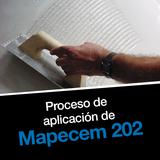 Proceso de aplicación de Mapecem 202