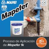 Proceso de aplicación de Mapefer 1k