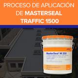 Proceso de aplicación de MASTERSEAL Traffic 1500