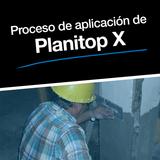 Proceso de aplicación de Planitop X