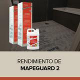 Rendimiento de Mapeguard 2 de Mapei