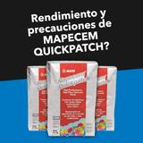 Rendimiento y precauciones al usar Mapecem Quickpatch
