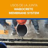 Usos de la Junta Wabocrete Membrane System