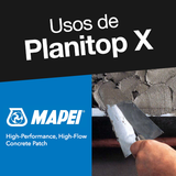 Usos de Planitop X de Mapei