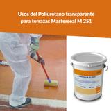 Usos del Poliuretano transparente para terrazas Masterseal M 251
