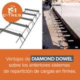 Ventajas de Diamond Dowel sobre los anteriores sistemas de repartición de cargas en firmes