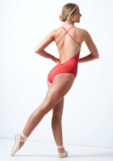 Body Danza con Spalline Sottili e Ampio Scollo Sulla Schiena Ballet Rosa