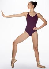 Body con spalline sottili Ballet Rosa Viola indietro. [Viola]