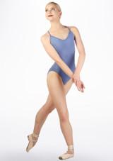 Body con spalline sottili Ballet Rosa Blu davanti #3. [Blu]
