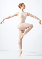 Body Danza a Collo Alto con Inserti in Pizzo Ballet Rosa Blu indietro #2. [Rosa]