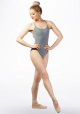 Body Danza con Spalline Incrociate Sulla Schiena So Danca Grigio davanti. [Grigio]