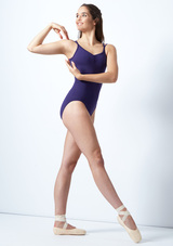 Body Danza con Doppie Spalline So Danca Blu davanti. [Blu]