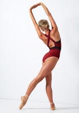 Body con cerniera sul davanti Move Dance Passion Rosso indietro. [Rosso]