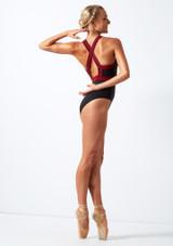 Body con cerniera sul davanti Move Dance Passion Nero indietro. [Nero]