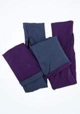 Dincwear Scaldamuscoli per gambe doubleface Viola [Viola-Blu]