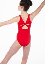 Body  decorazione a fiocco sulla schiena ragazze So Danca Rosso. [Rosso]