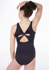 Body  decorazione a fiocco sulla schiena ragazze So Danca Nero. [Nero]