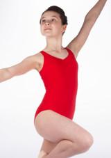 Body  decorazione a fiocco sulla schiena ragazze So Danca Rosso #3. [Rosso]