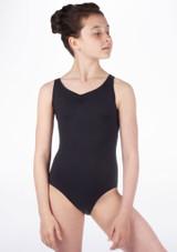 Body  decorazione a fiocco sulla schiena ragazze So Danca Nero #2. [Nero]