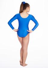 Body ginnico maniche lunghe Podium Alegra per bambine Blu #2. [Blu]