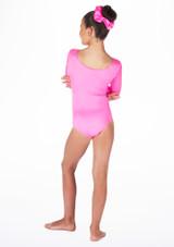 Body ginnico maniche lunghe Podium Alegra per bambine Rosa #2. [Rosa]