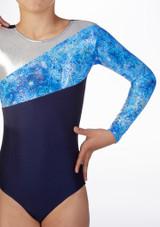 Body ginnico maniche lunghe Frozen Alegra Blu davanti #2. [Blu]