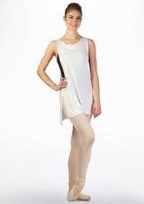 Top tunica coprente Ballet Rosa Bianco indietro. [Bianco]