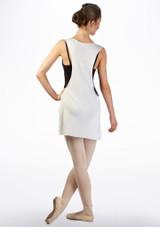 Top tunica coprente Ballet Rosa Bianco davanti. [Bianco]