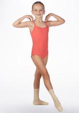 Body Danza Bambina con Spalline Sottili Ria Move Dance Rosa davanti #2. [Rosa]