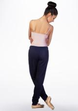 Pantaloni con laccio e risvolto Ballet Rosa Blu indietro. [Blu]