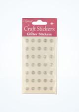 Stickers gemme con brillantini Argento davanti. [Argento]
