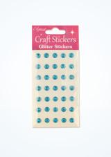 Stickers gemme con brillantini Blu davanti. [Blu]