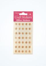Stickers gemme con brillantini Oro davanti. [Oro]