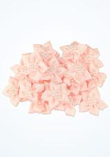 Fiori da cucire con perline 20 pezzi Rosa davanti. [Rosa]