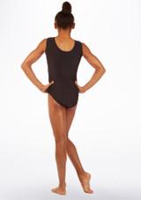 Body ginnico senza maniche Britney Alegra Nero-Rosa indietro. [Nero-Rosa]