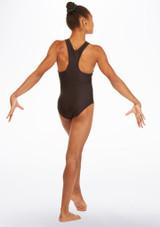 Body ginnico con incrocio Discotheque Alegra Nero indietro. [Nero]