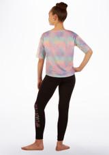 Maglia corta multicolore Move Dance Multi-Colore indietro. [Multi-Colore]