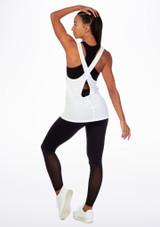 Top danza incrocio su schiena Move Bianco indietro. [Bianco]