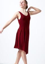 Vestito Danza Lirica Ragazza Scollato Cordelia Move Dance Rosso davanti. [Rosso]