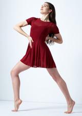 Vestito Danza Lirica a Maniche Corte Ceres Move Dance Rosso davanti. [Rosso]