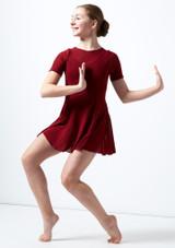 Vestito Danza Lirica Ragazza a Maniche Corte Kari Move Dance Rosso davanti. [Rosso]