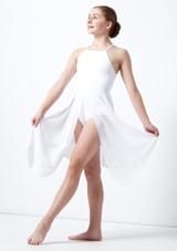 Vestito Danza Lirica Ragazza con Incrocio sulla Schiena Atlas Move Dance Bianco davanti. [Bianco]