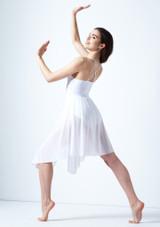 Vestito Danza Lirica con Incrocio sulla Schiena Ariel Move Dance Bianco indietro. [Bianco]