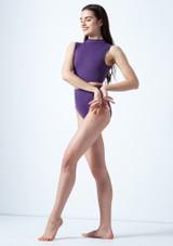 Crop Top Danza con Scollo a Occhiello Callisto Move Dance Viola davanti. [Viola]