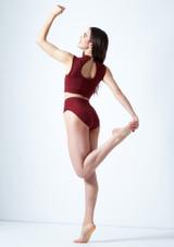Crop Top Danza con Scollo a Occhiello Callisto Move Dance Rosso indietro. [Rosso]