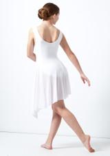 Vestito lirico asimmetrico per ragazze Portia Move Dance Bianco indietro. [Bianco]