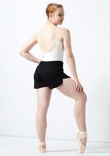 Pantaloncini a vita alta Ballet Rosa Nero indietro. [Nero]